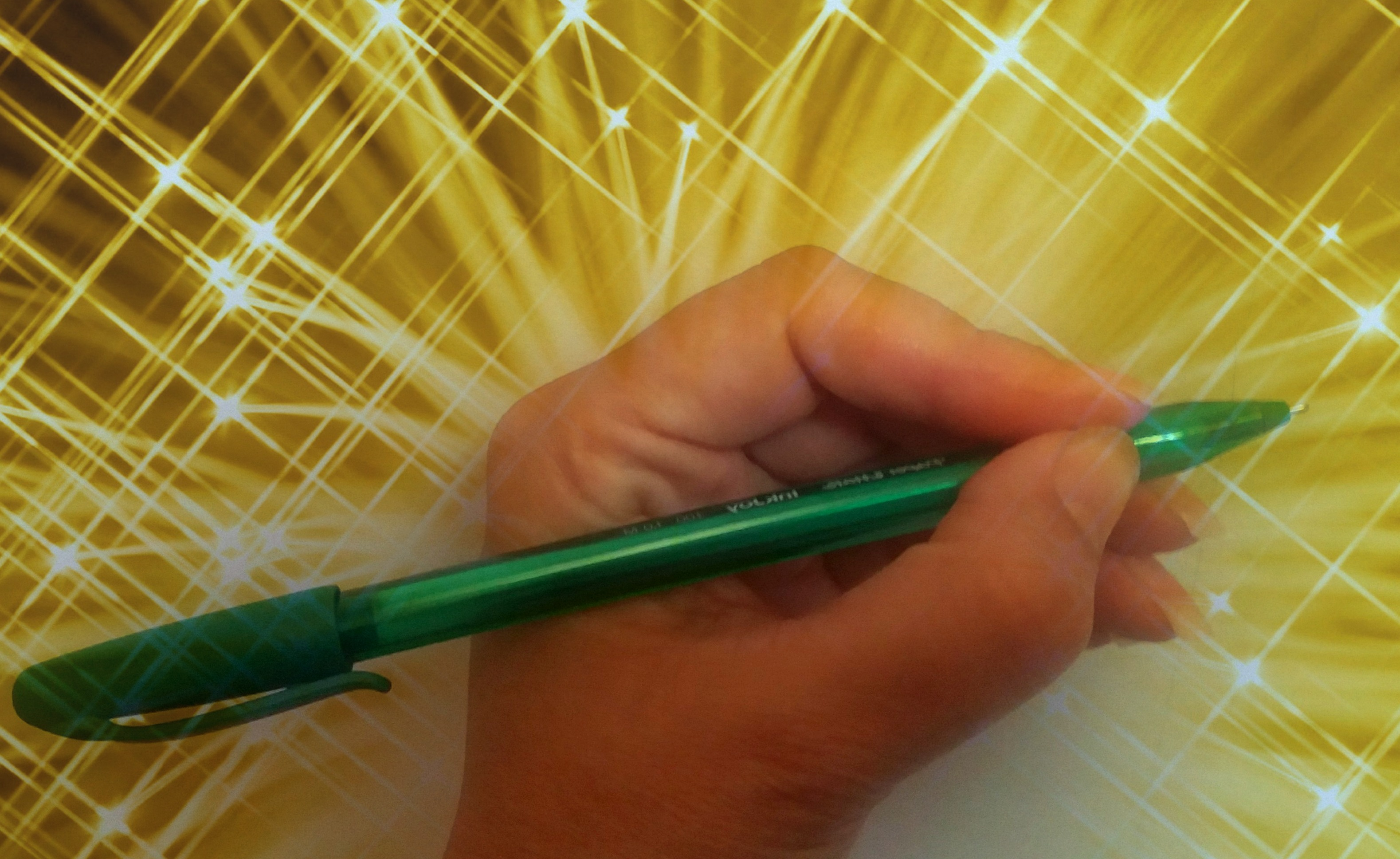 green pen burst